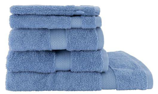 handdoeken - zware kwaliteit felblauw felblauw - 1000025960 - HEMA