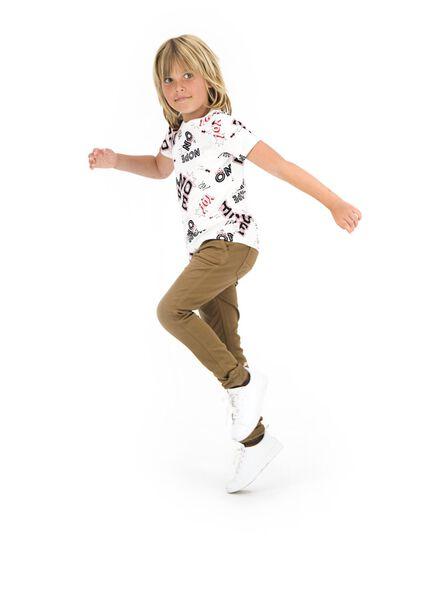 kinder t-shirt wit wit - 1000013784 - HEMA