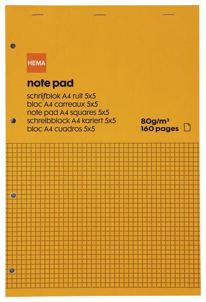 schrijfblok A4 - geruit 5 x 5 mm - 14185210 - HEMA
