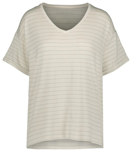 dames t-shirt gebroken wit gebroken wit - 1000019574 - HEMA