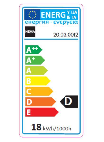 spaarlamp gedraaide kaars 18w - kleine fitting - 204 lumen - 20030012 - HEMA