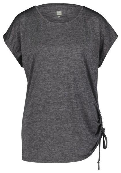 dames sportshirt loose fit gerecycled grijsmelange grijsmelange - 1000021859 - HEMA