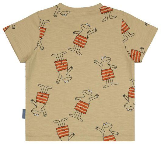 baby t-shirt Kikker beige beige - 1000025130 - HEMA