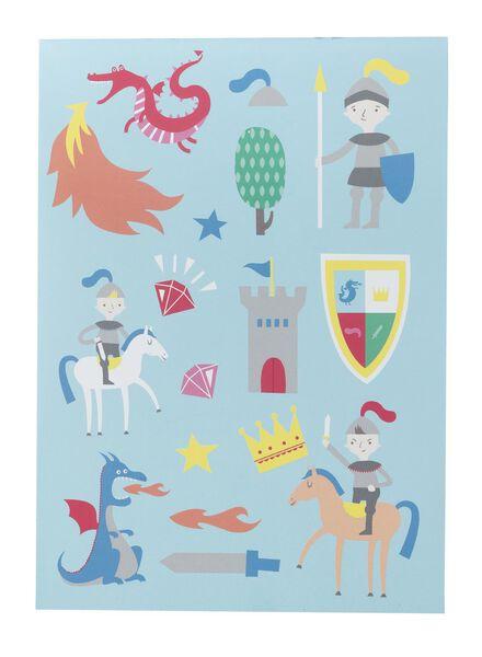 kleurboek ridder met stickers A5 - 15910082 - HEMA