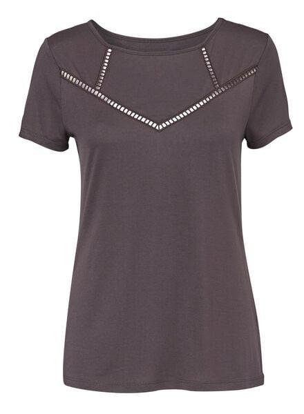dames t-shirt zwart - 1000008659 - HEMA