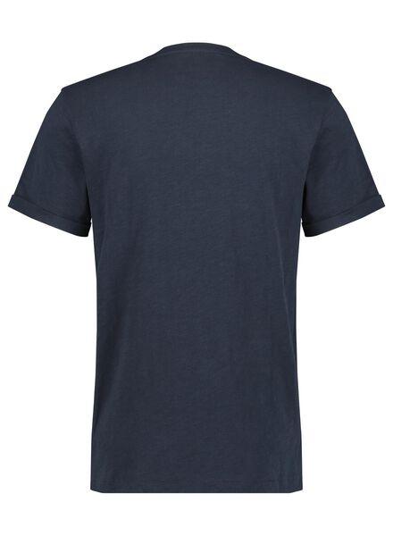 heren t-shirt slub donkerblauw donkerblauw - 1000014293 - HEMA