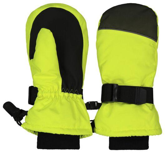 kinder skiwanten geel 98/104 - 16740032 - HEMA