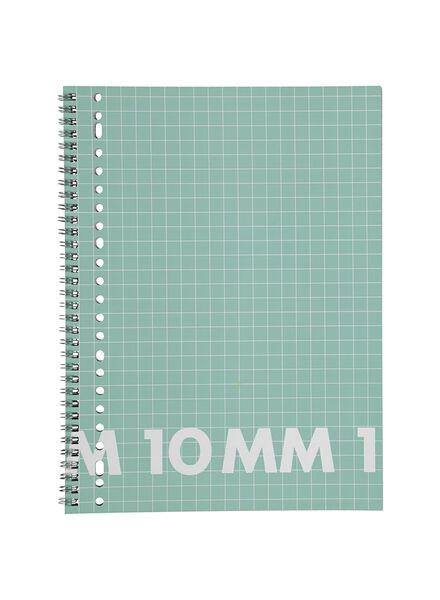 collegeblok A4 - geruit 10 x 10 mm - 3 stuks - 14101656 - HEMA