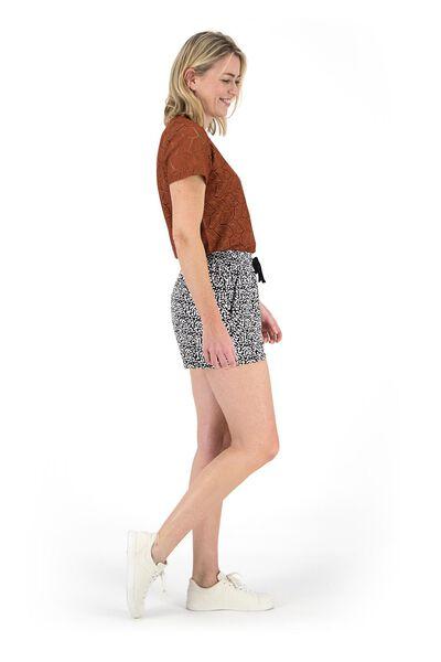 dames t-shirt bruin S - 36232219 - HEMA