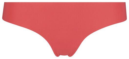 damesstring micro kant rood rood - 1000018621 - HEMA