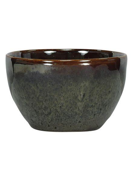 schaal - 10 cm - Porto - reactief glazuur - taupe - 9602054 - HEMA