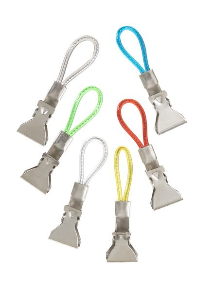 6-pak theedoek clips - 80893065 - HEMA