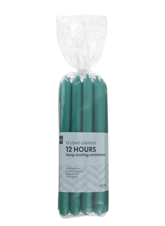 HEMA 12-pak Huishoudkaarsen (vert foncé)