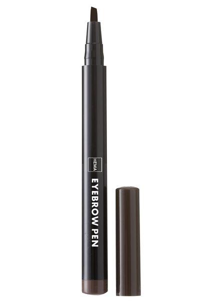 wenkbrauw pen donkerbruin - 11214053 - HEMA