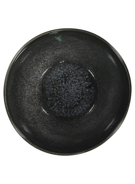 schaal - 14 cm - Porto - reactief glazuur - zwart - 9602034 - HEMA