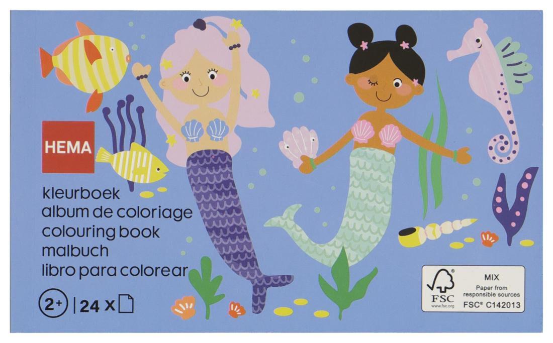 HEMA Kleurboek Zeemeerminnen 10x16.5