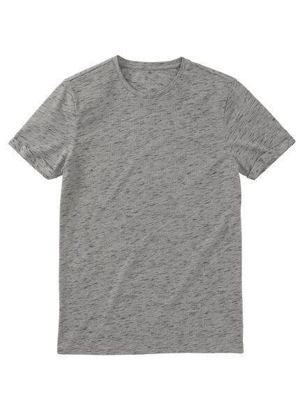 heren t-shirt grijsmelange - 1000009416 - HEMA
