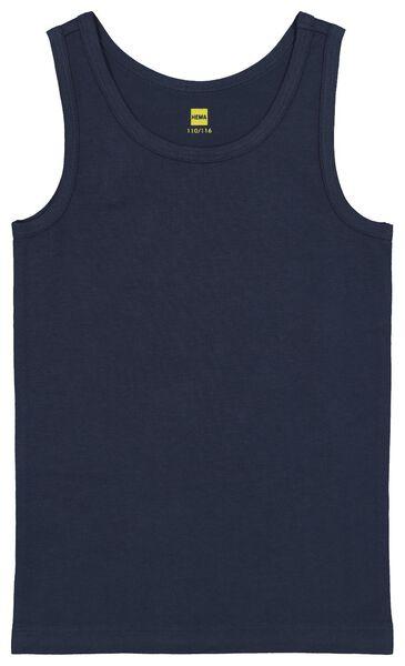 2-pak kinderhemden gevlekt grijsmelange grijsmelange - 1000020986 - HEMA