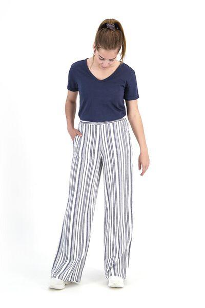 damesbroek donkerblauw donkerblauw - 1000019658 - HEMA