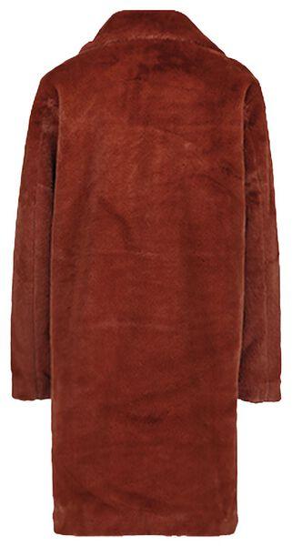 damesjas imitatie bont bruin bruin - 1000020989 - HEMA