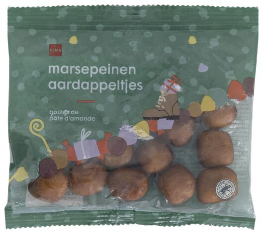 Marsepein aardappeltjes 125gram - in Garnering