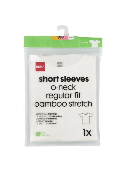 kinder t-shirt met bamboe wit 122/128 - 30719123 - HEMA