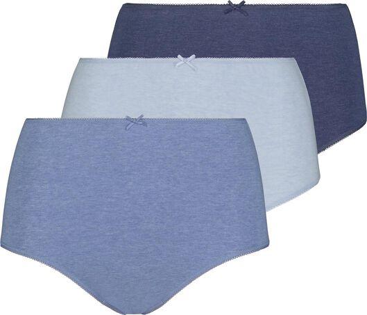 3-pak hoge damesslips blauw blauw - 1000018558 - HEMA