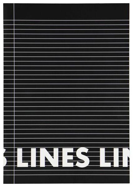 schriften zwart A4 gelinieerd - 3 stuks - 14101618 - HEMA