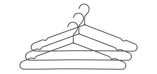 kledinghangers metaal zwart  - 3 stuks - 39891029 - HEMA