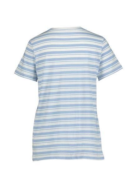 dames t-shirt blauw blauw - 1000014335 - HEMA