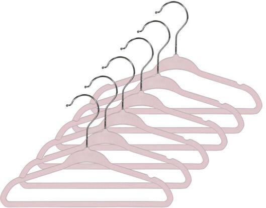 kledinghanger kind roze velours - 6 stuks - 13222081 - HEMA
