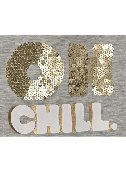 kinder t-shirt grijsmelange grijsmelange - 1000009980 - HEMA
