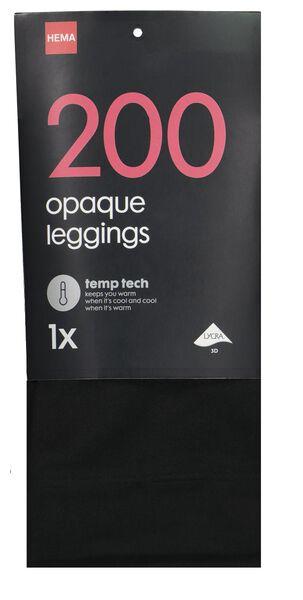 legging temperatuurregulerend 200denier zwart zwart - 1000001138 - HEMA