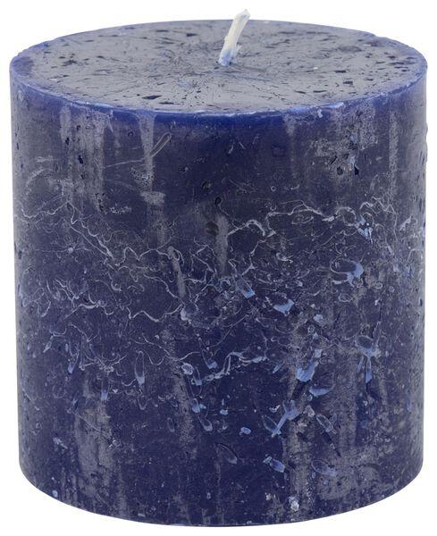 rustieke kaars - 10x10 - blauw blauw 10 x 10 - 13501961 - HEMA