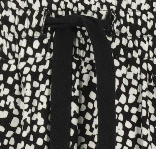 damesshort zwart/wit zwart/wit - 1000019648 - HEMA