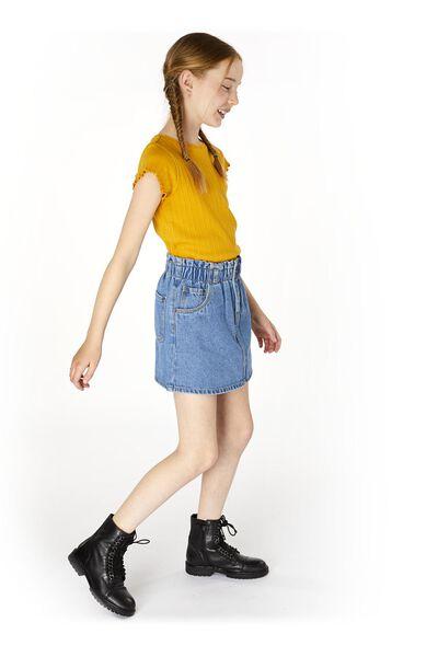 kinder t-shirt rib geel geel - 1000020106 - HEMA