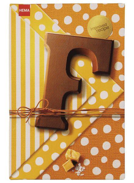 chocoladeletters - 135 gram karamel zeezout karamel zeezout - 1000016869 - HEMA