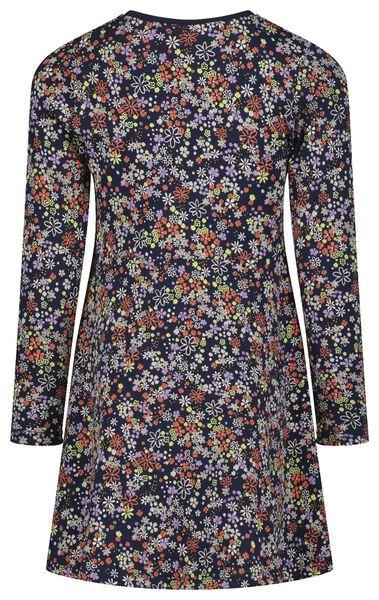 kinderjurk bloemen donkerblauw donkerblauw - 1000024705 - HEMA