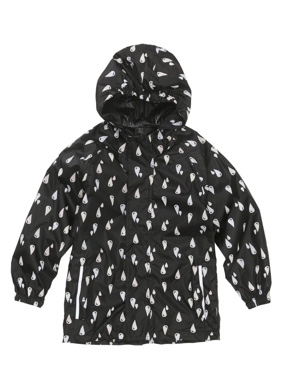 magic opvouwbare kinder regenjas met kleurverandering zwart