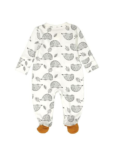 newborn jumpsuit met bamboe gebroken wit gebroken wit - 1000014054 - HEMA