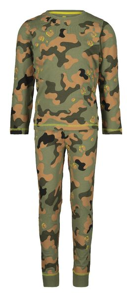 kinderpyjama camouflage groen groen - 1000020654 - HEMA