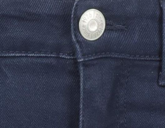 kinderjeans skinny donkerblauw donkerblauw - 1000020373 - HEMA