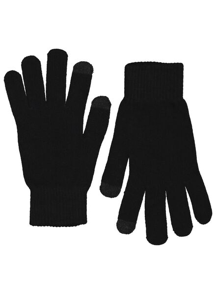 2-pak herenhandschoenen zwart zwart - 1000015328 - HEMA