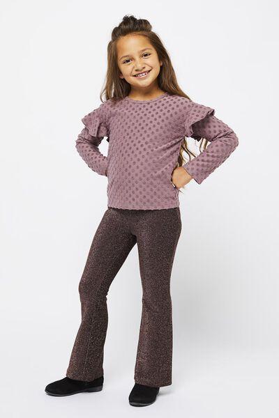 kinder t-shirt stippen paars paars - 1000021566 - HEMA