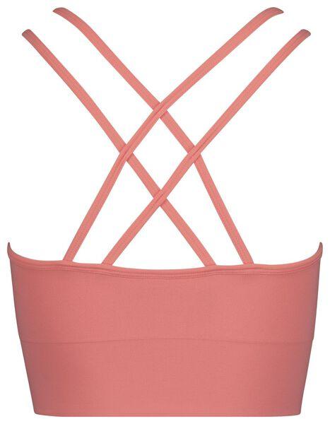 dames sportbh medium sporten roze M - 21700217 - HEMA
