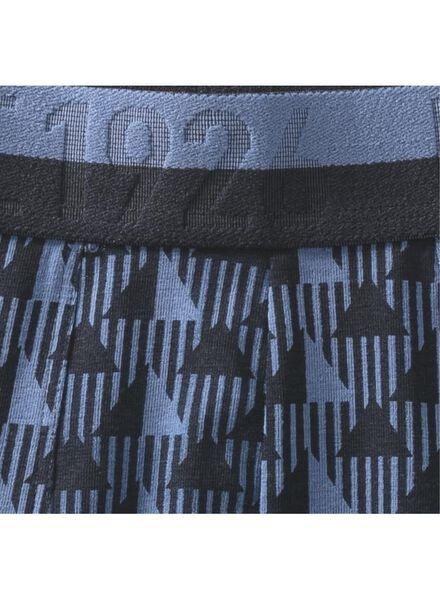 2-pak herenboxers kort blauw blauw - 1000009199 - HEMA