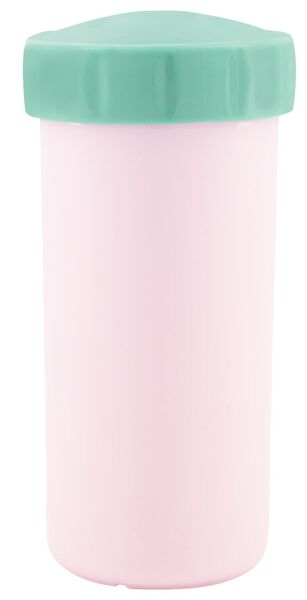 drinkbeker met deksel 300ml roze - 80610318 - HEMA