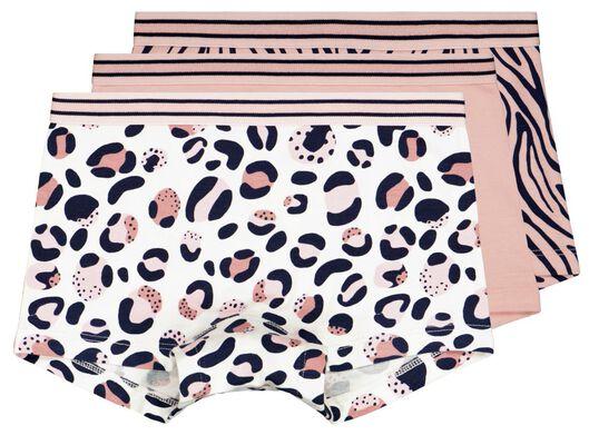 kinderboxers katoen/stretch leopard - 3 stuks lichtroze 158/164 - 19380057 - HEMA