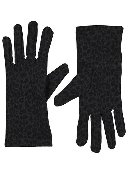 dameshandschoenen touchscreen donkergrijs S/M - 16460581 - HEMA