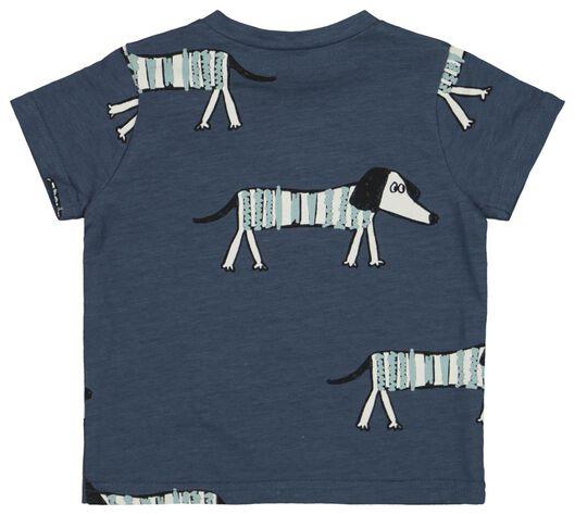 baby t-shirt blauw 74 - 33128203 - HEMA